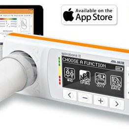 MIR Spirobank II Smart Spirometer Bluetooth connectie met iPad