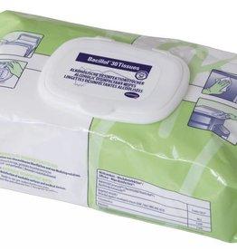 Medische Vakhandel Bacillol® 30 Tissues oppervlaktereiniging voor uw praktijk, stethoscopen, onderzoeksbanken, buro etc