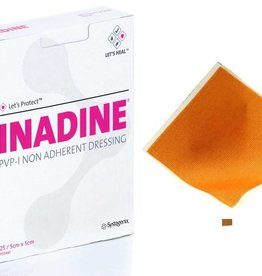 Medische Vakhandel Inadine (povidonjodium) zalfgaas 9,5 x 9,5 cm 10 stuks