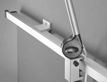 Derungs - standard wall-mount rail system - 25 x 10 mm x 1,5 m