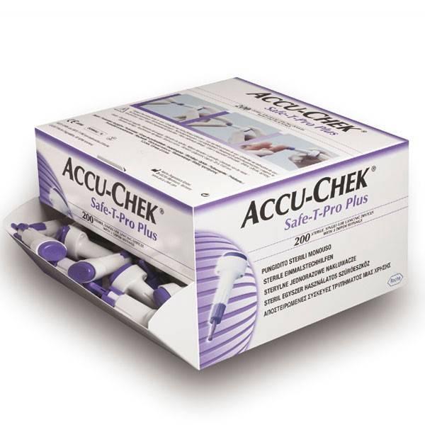 Accu Chek Safe-T-Pro Plus lancetten - 200 stuks