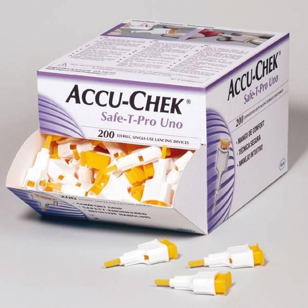 Accu-Chek Safe-T-Pro Uno, disposable lancets, 200 pieces