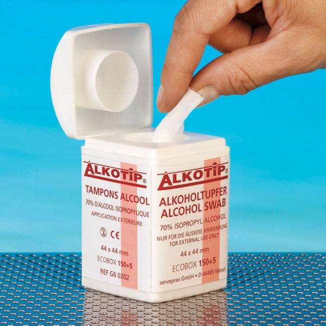 Alcohol Alkotip dispenser - 155 pads