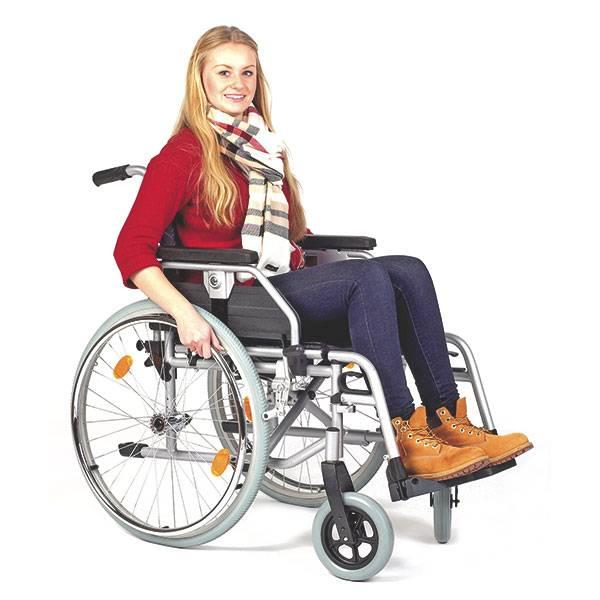 Servomobil Rollstuhl aus Stahl, 48-50 cm Sitzbreite