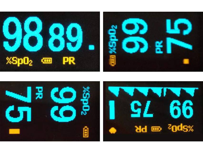 Saturatiemeter Oxy-4 Blauw: Nonin onyx vantage vorm