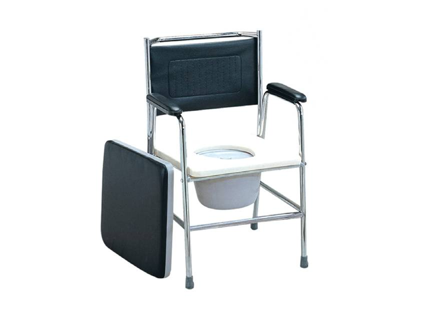 Commode chair - stainless steel