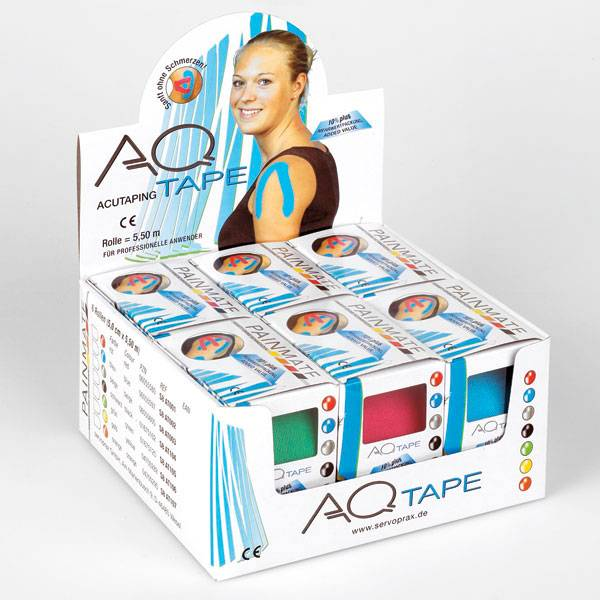 AQ kinesiotape fysiotape Small: Roll 5,5 m x 2,5 cm 2 pieces