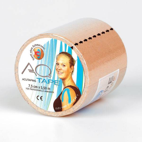 AQ Kinesiotape Fysiotape breit,  5,5 m x 7,5 cm, 1 Rolle