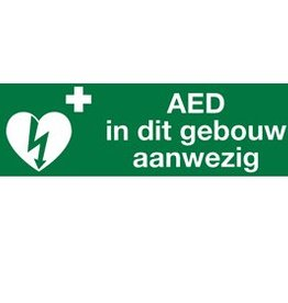 Medische Vakhandel Aufkleber AED in diesem Gebäude