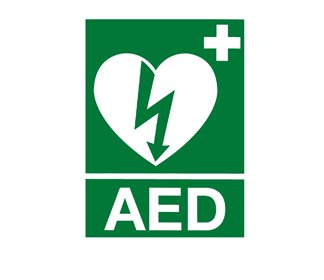 AED sticker set