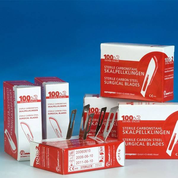 Mediware scalpel blades - 100+2 pieces