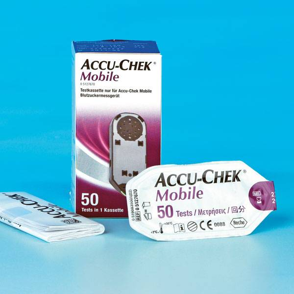 Accu-Chek® Mobile 50 Testen