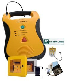 Defibtech Lifeline AED actie met wandkast