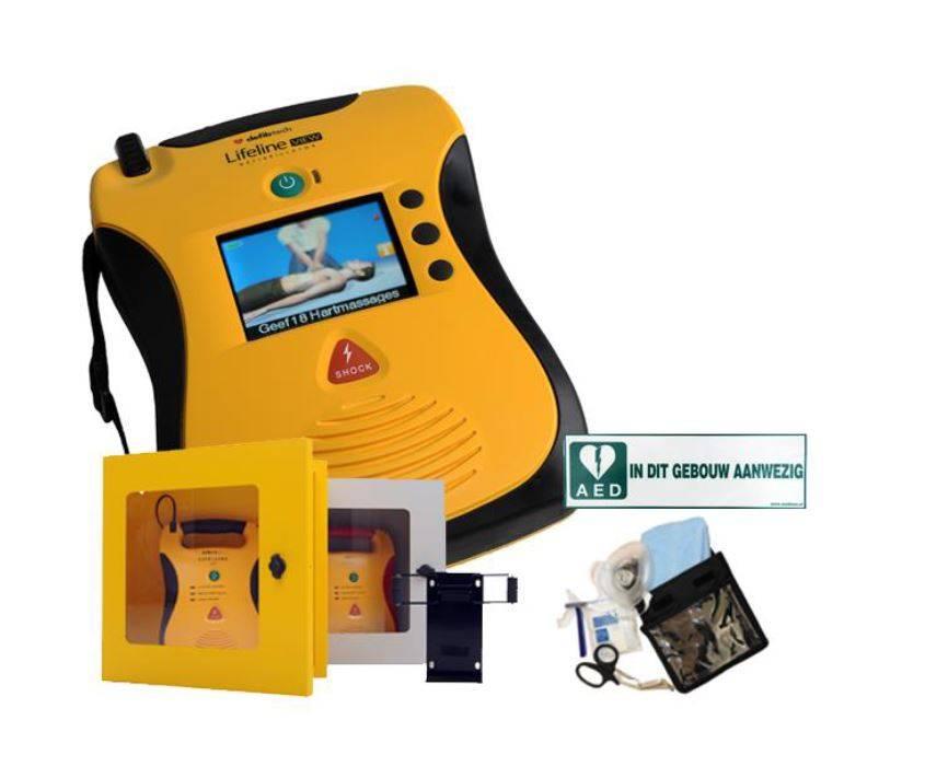 Lifeline View AED Actie met wandkast