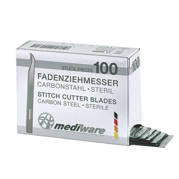 Mediware Fadenziehmesser kurz 6,5 cm, 100 + 2 Stück
