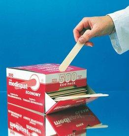 Medische Vakhandel Medispat houten tongspatels 500 stuks - Ecopack