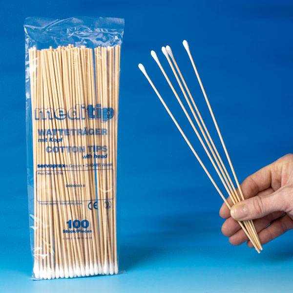 Wattendrager - hout met tip 1000 stuks