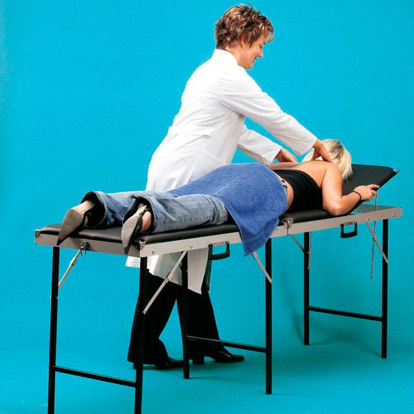 Portable massage table (suitcase model)