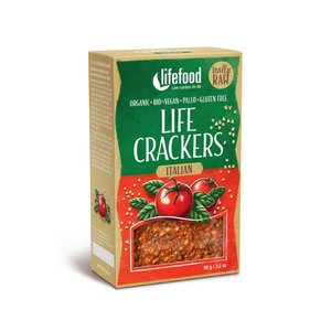 LifeFood Crackers Italiaans - 90g - BIO