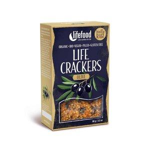 LifeFood Crackers - Olijf - 90g-BIO