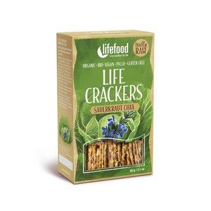 LifeFood Crackers Chia-Zuurkool - 60g - BIO