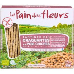 Le Pain des Fleurs Kikkererwten Crackers - 150gr - BIO
