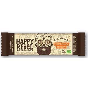 Happy Rebel Pecan Maca Cherry 81% cacoa - 38g - BIO - UHD - 22-8-2019