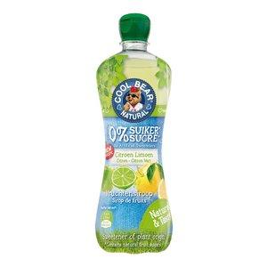 Cool Bear Siroop Citroen-Limoen met Zoetstoffen uit Stevia - 700ml