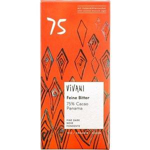 Vivani Chocoladereep 75% 80g - BIO