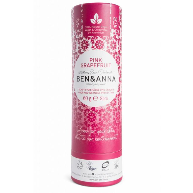 Pink Grapefruit natuurlijke soda deodorant