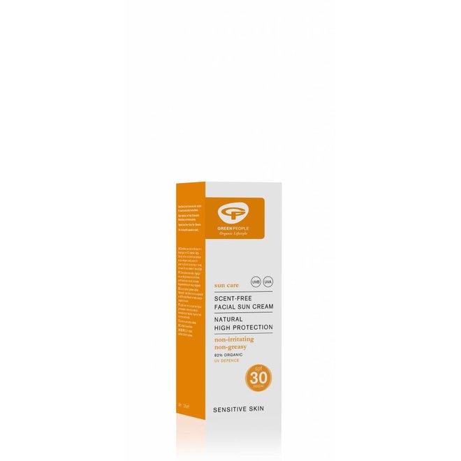 Parfumvrije Zonnebrandcreme Gezicht SPF30 - 50ml