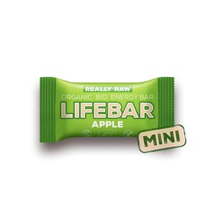 Lifebar Energiereep Appel RAW - Mini 25g - BIO