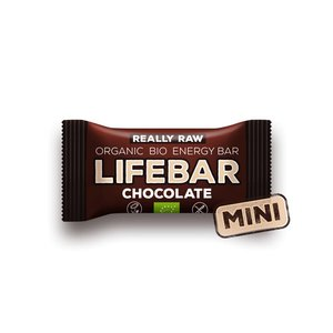 Lifebar MINI Lifebar Energiereep Chocolade RAW & BIO - 25g