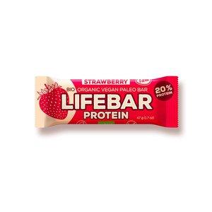 Lifebar Lifebar Proteïnereep Strawberry RAW & BIO - 47g
