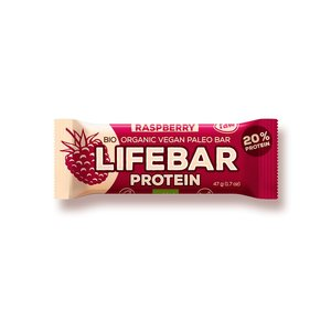 Lifebar Lifebar Proteïnereep Raspberry RAW & BIO - 47g