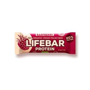 Lifebar Proteïnereep Raspberry RAW - 47g - BIO