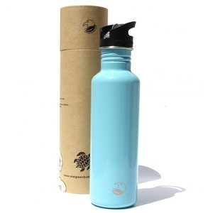 One Green Bottle Tough Canteen - Ice Blue - met Quench cap - 800ml