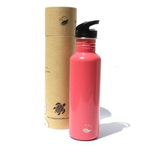 One Green Bottle Tough Canteen - Warm Pink - met Quench cap - 800ml