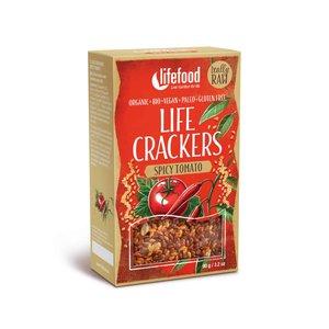 LifeFood Crackers - Pikante Tomaat  - 90g - BIO
