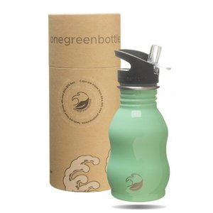 One Green Bottle Curvy - Mint - met Quench cap - 350ml