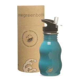 One Green Bottle Curvy - Teal - met Quench Cap - 350ml