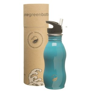 One Green Bottle Curvy - Teal - met Quench cap - 500ml