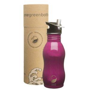 One Green Bottle Curvy - Raspberry - met Quench cap - 500ml