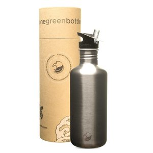 One Green Bottle Tough Canteen - Nude - met Quench cap - 1200ml