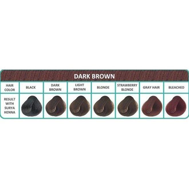 Haarkleuring Henna Cream - Dark Brown