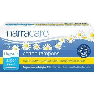 Natracare Tampons Katoen Super met Inbrenghuls 16st