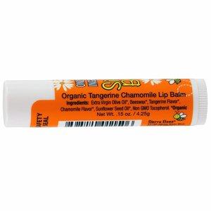 Sierra Bees Lippenbalsem bijenwas - Tangerine & Kamille