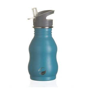One Green Bottle Curvy - Powder Teal - met Grijze Quench cap - 350ml