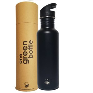 One Green Bottle Tough Canteen - Powder Black - met Quench cap - 800ml