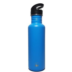 One Green Bottle Tough Canteen - Powder Chelsea Blue - met Quench cap - 800ml